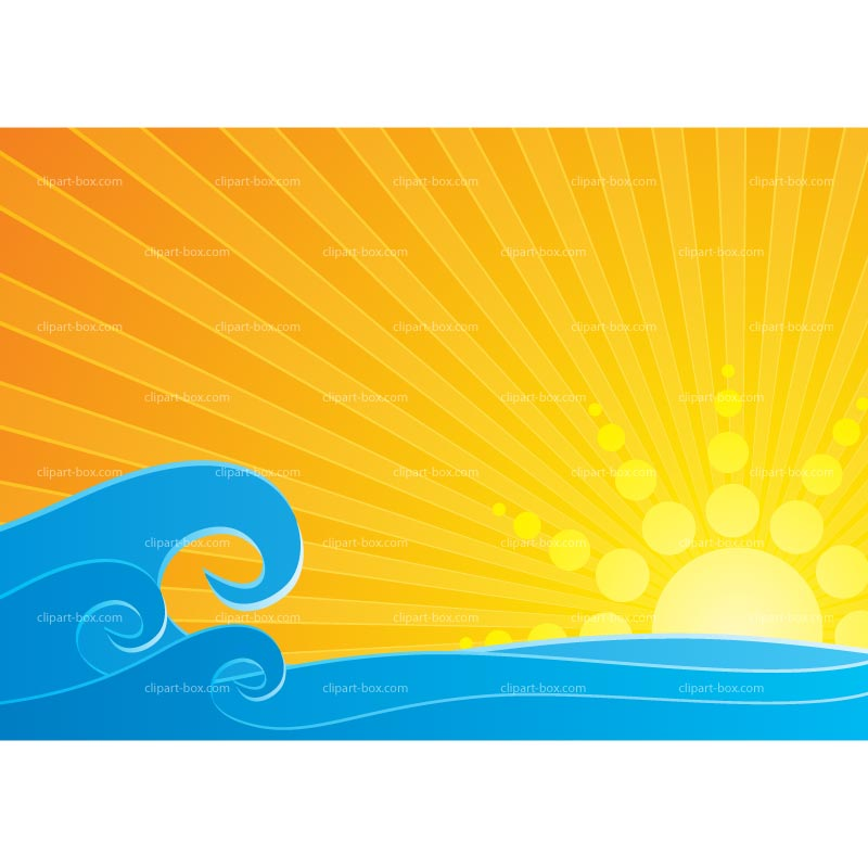 Sea clipart sun sea #2