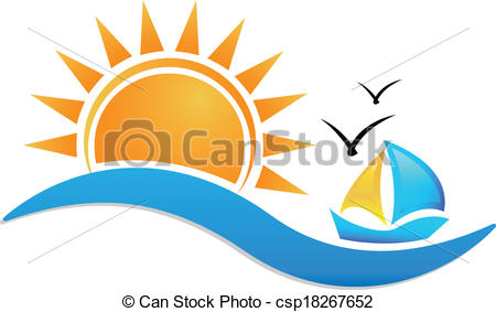 Sea clipart sun sea #5