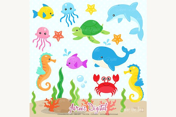 The Sea clipart under sea Illustrations Under the ~ Creative