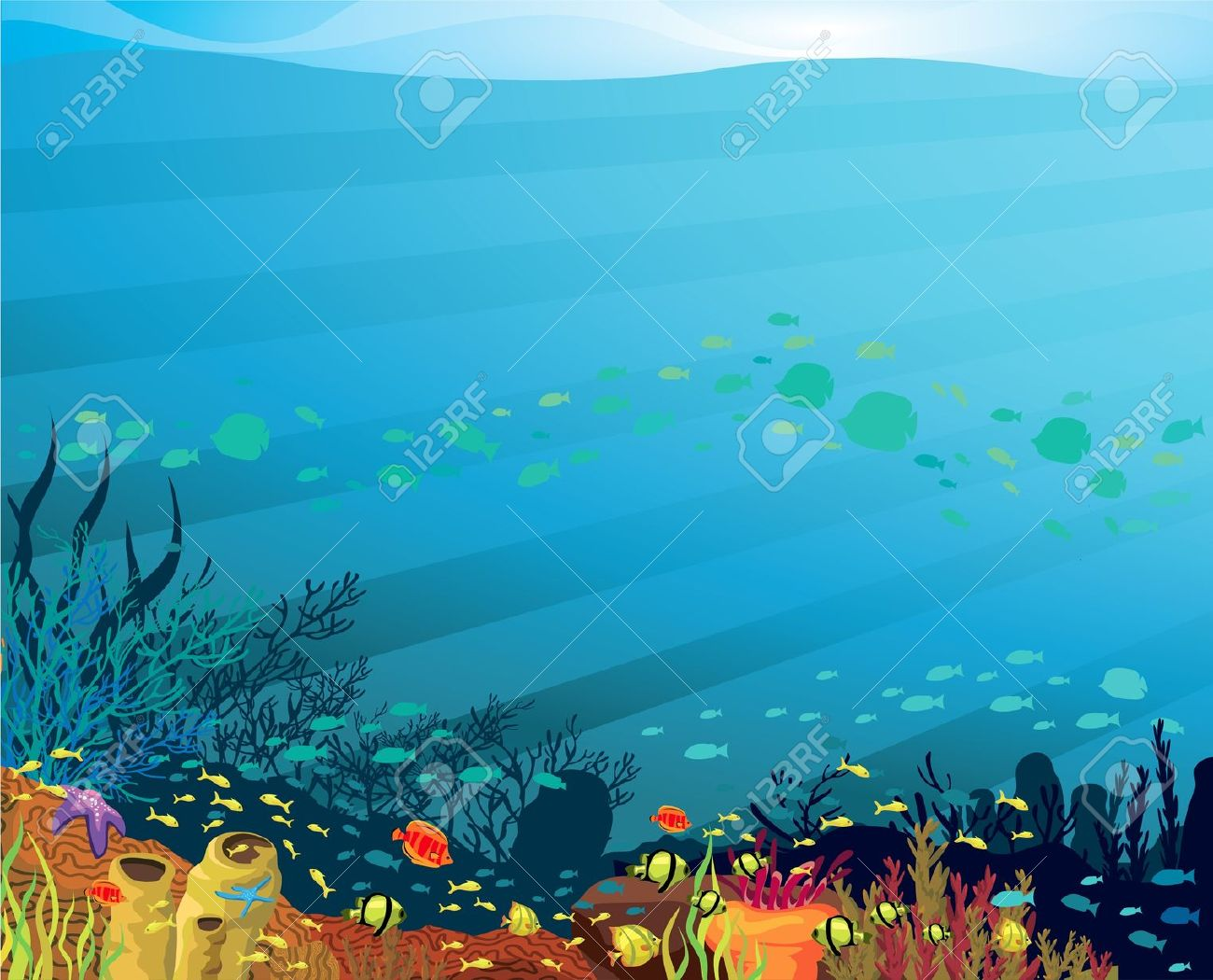 Background clipart coral reef Art Clip background Clip clipart