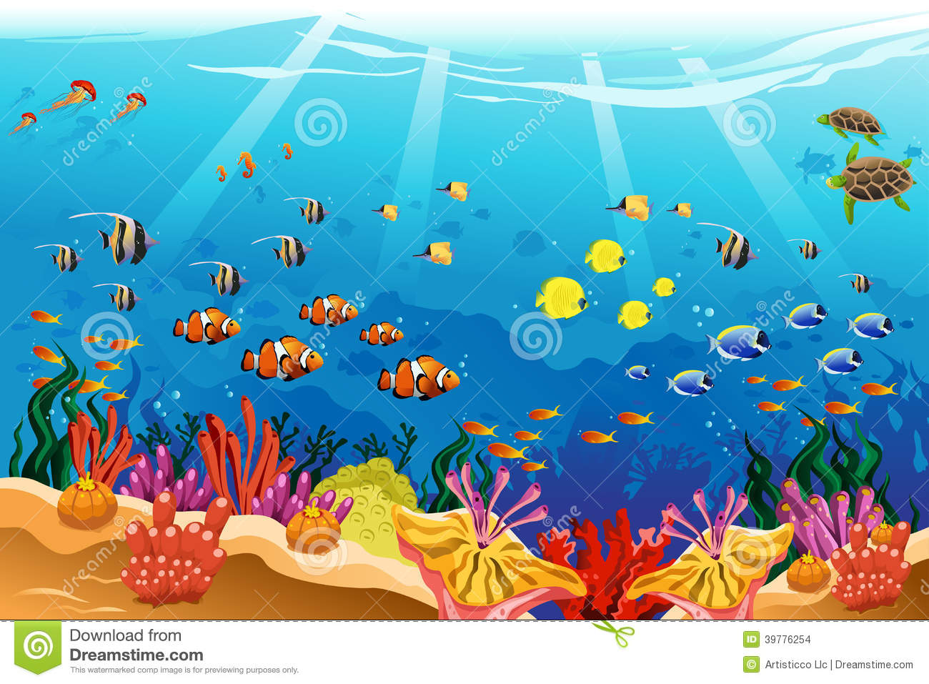 Scenery clipart ocean theme #6