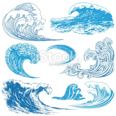 Monster Waves clipart wave shape Royalty to how waves Stock