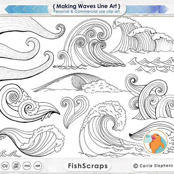 Sea clipart wave line #8
