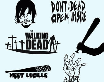 The Walking Dead clipart Walking DXF Zombie Daryl Vector