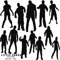 Zombie clipart silhouette Use Digital OFF Free Personal