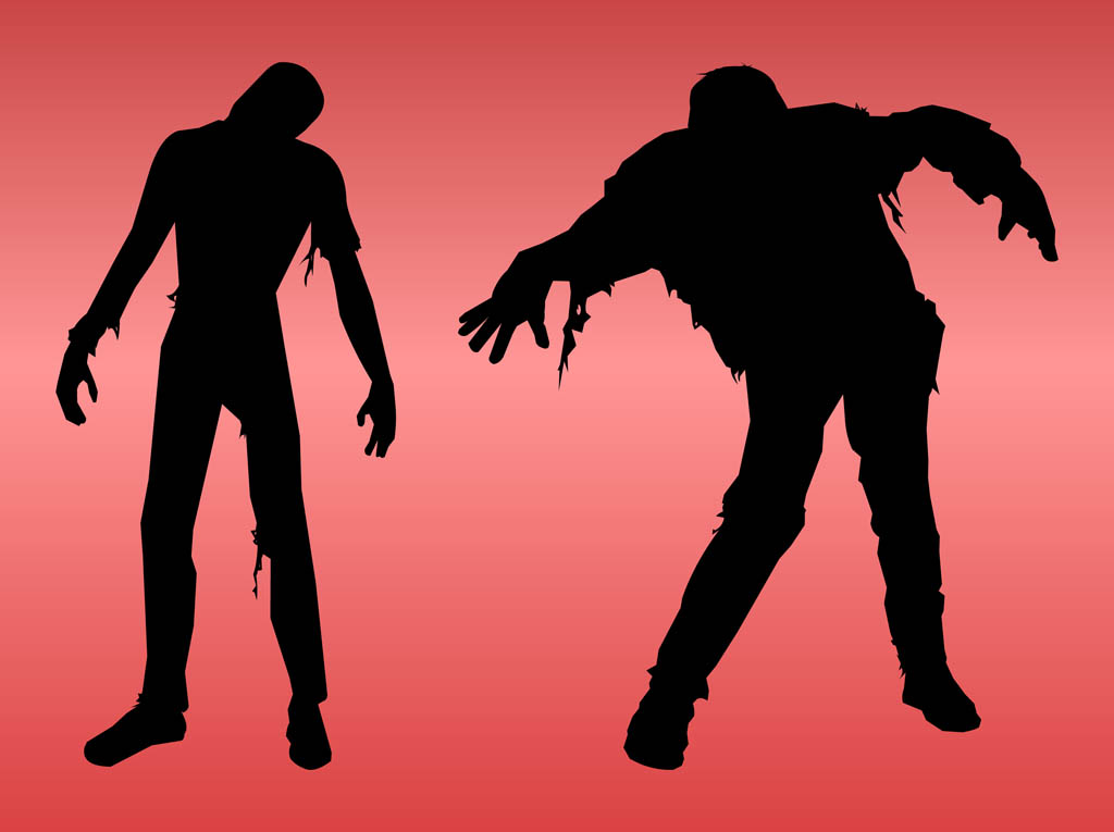 Zombie clipart shadow #2