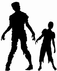 Zombie clipart shadow #1