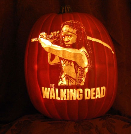 The Walking Dead clipart pumpkin carving pattern Pinterest Walking Dead on Halloween
