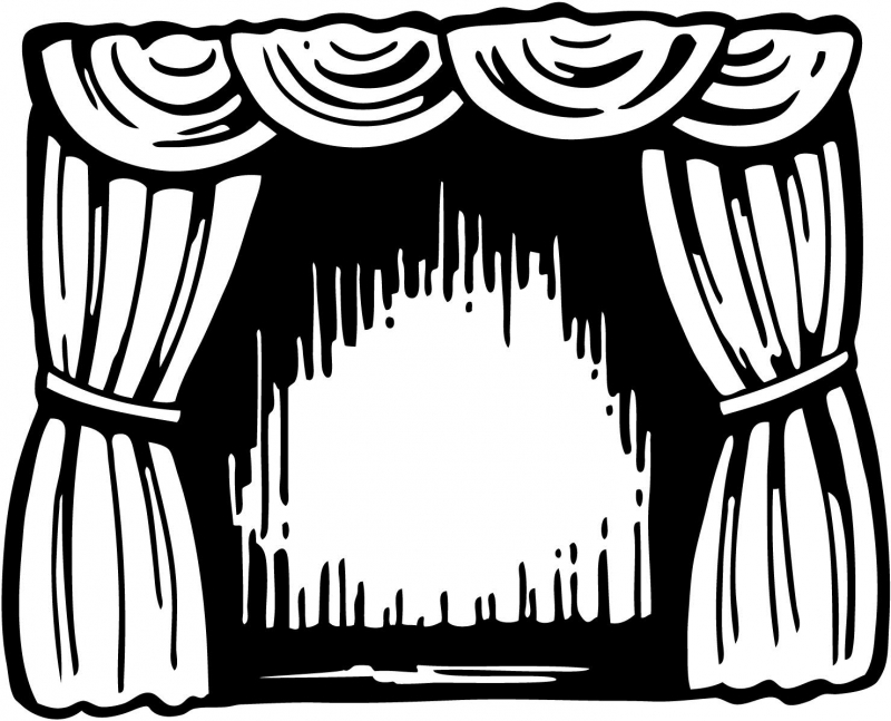 Theatre clipart black and white And and White – Theater