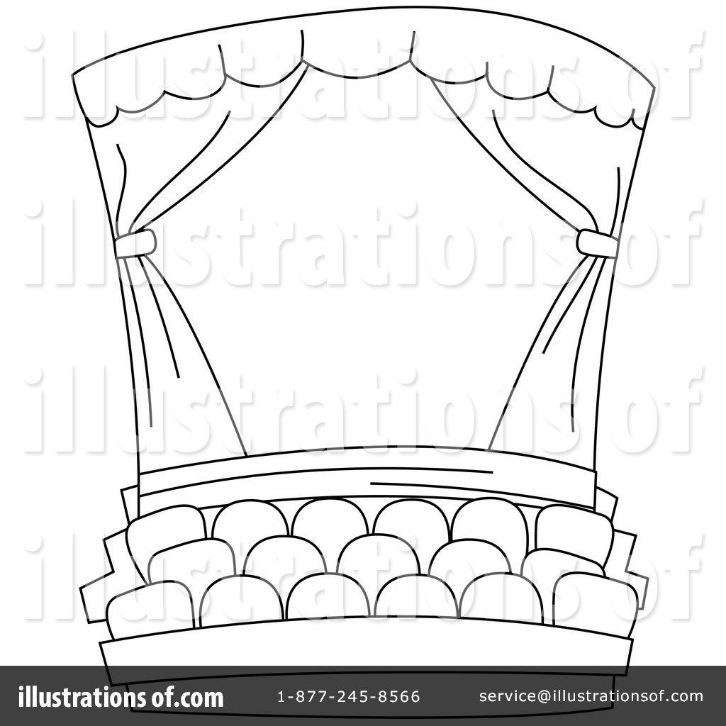 Curtain clipart coloring – Art Download Theater Black