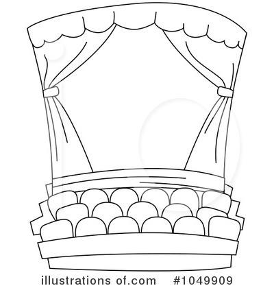 Theatre clipart black and white Stock Clipart Sample BNP Illustration