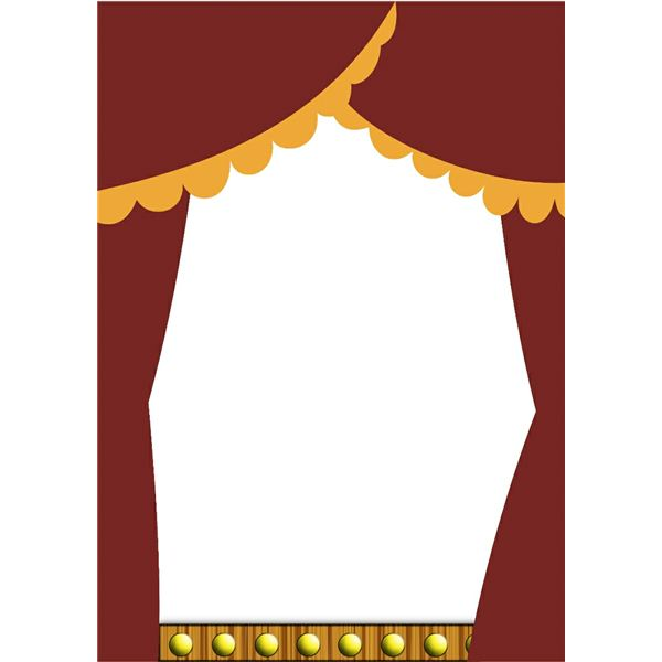 Theatre clipart border Up for docborder2  Easily
