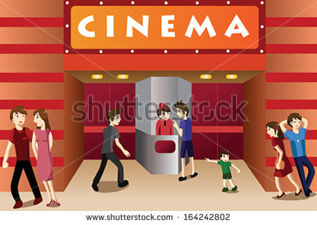 Bulding  clipart movie theater Clipart 699 (212 vector Movie