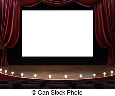 Theatre clipart cinema screen Illustrations Theater marquee Movie Clipart