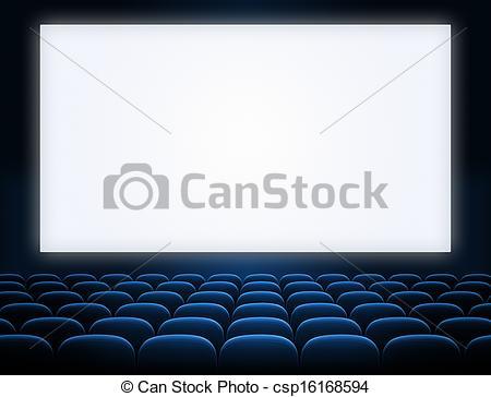 Theatre clipart cinema screen Seats  blue Photo screen