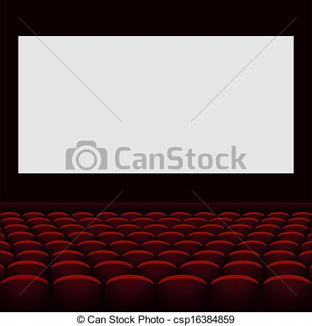 Theatre clipart cinema screen Vector  csp16384859 theatre with
