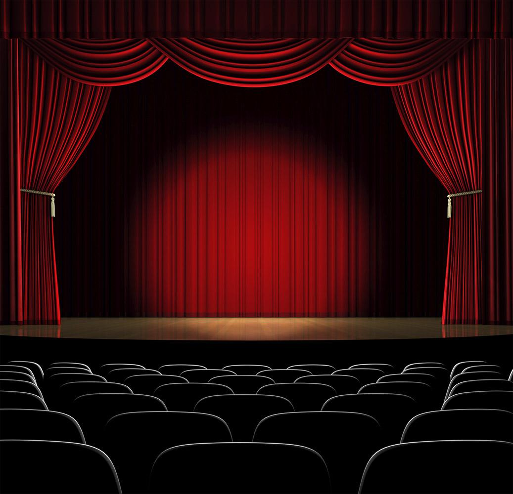 Curtain clipart theater light Free on Creating :