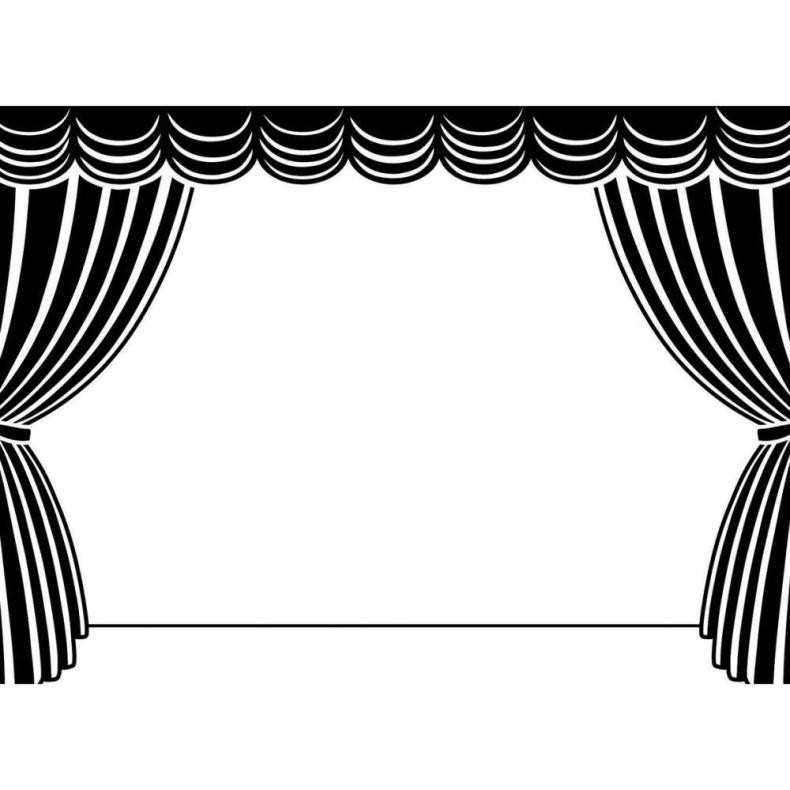 Theatre clipart colorful Style Decorative Stage Colorful Cinema