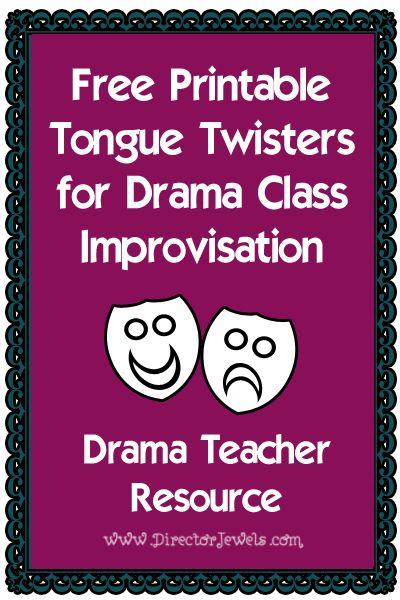 Theatre clipart drama class Tongue directorjewels Class Twisters Drama