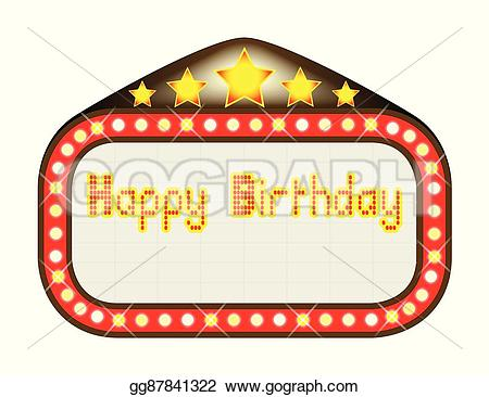 Theatre clipart happy birthday Illustration EPS movie Illustration Clipart