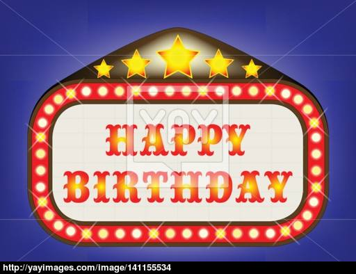 Theatre clipart happy birthday Birthday Happy YayImages com Marquee