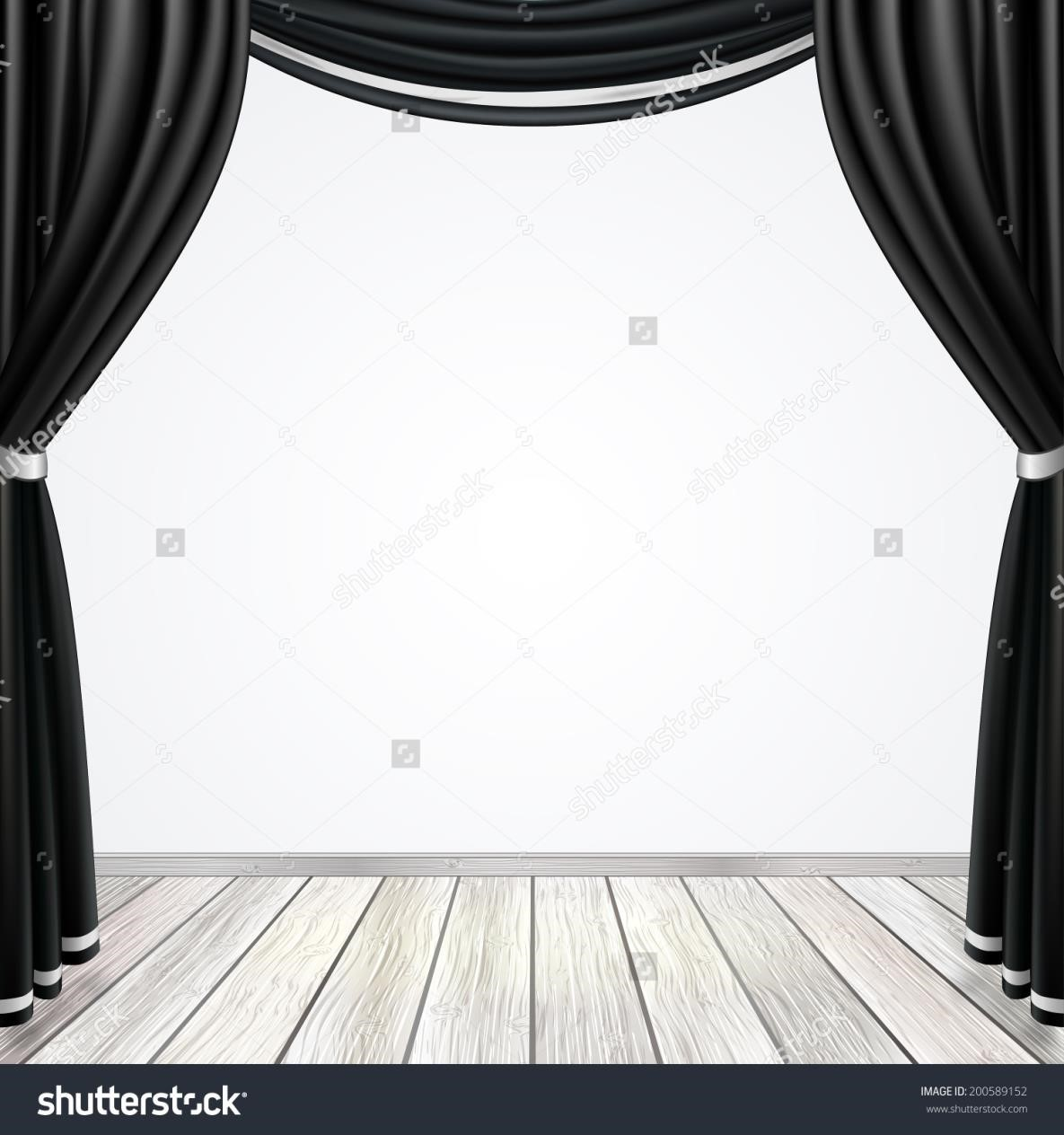 Theatre clipart kid drama Size Clipart Curtains Sketch