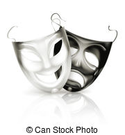 Theatre clipart mask drawing Masks of  Vector of