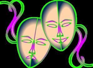 Theatre clipart mask transparent Clip Clip vector online Art