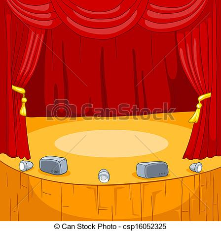 Theatre clipart opera stage With Illustration of Stage csp16052325