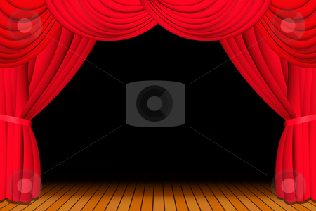Theatre clipart opera stage Stage opened red Theater The