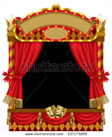 Theatre clipart puppet show Signboards curtain show of with
