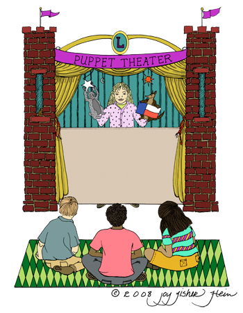 Theatre clipart puppet show 350x450  Resolution Center Clipart
