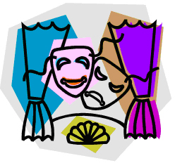 Theatre clipart readers theater Art Art Clipart Clipart Clip