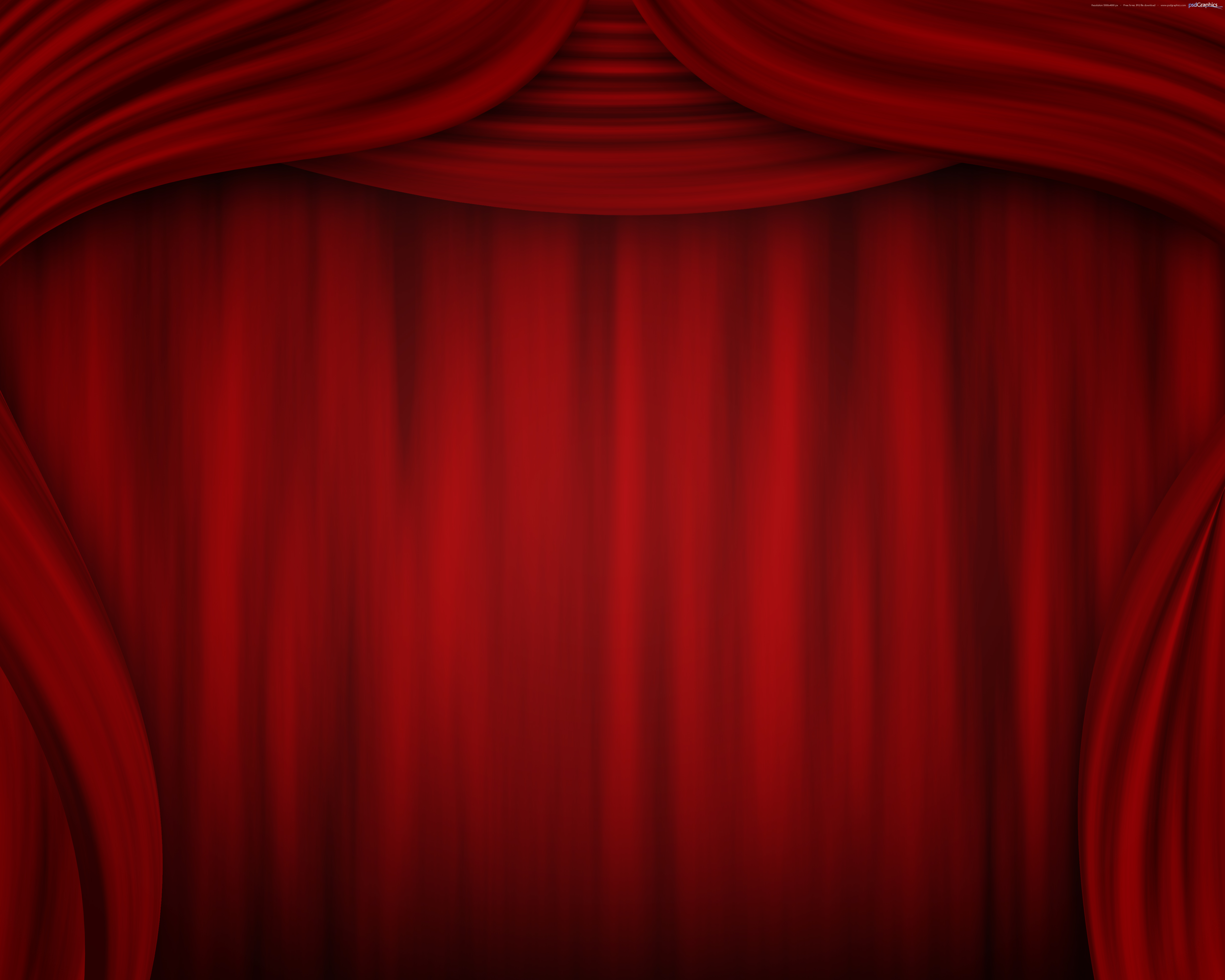Theatre clipart red curtain PSDGraphics Free Download stage Art