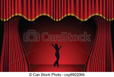 Theatre clipart red curtain EPS Red Theatre csp6922064 stage