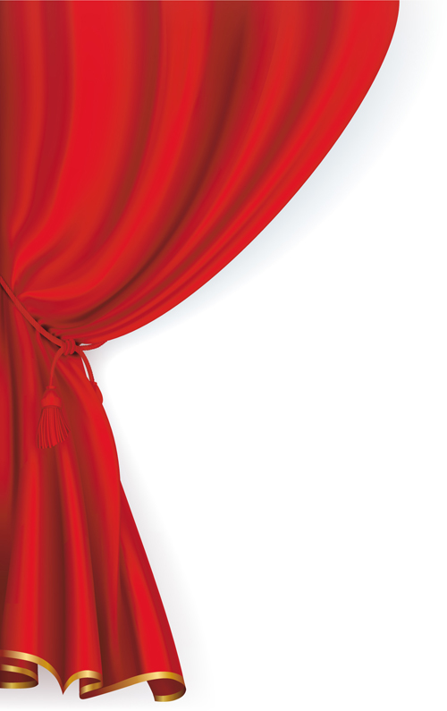 Theatre clipart red curtain Graphic Art  Free vector