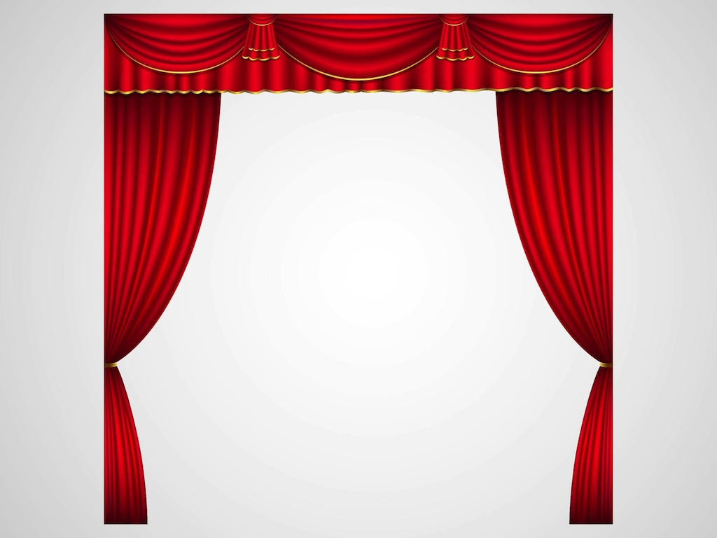 Curtain clipart stage screen Clipart Curtains Stage Drawing And