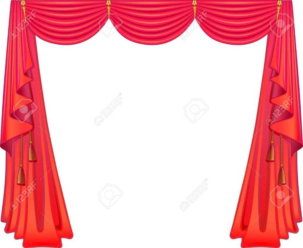Theatre clipart theater Curtain Stage Stage Full Decorative