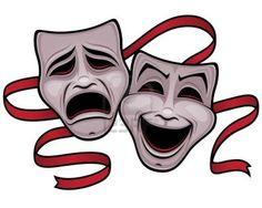 Theatre clipart theater play Clipart masks own and Tragedy