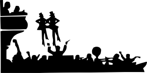 Theatre clipart theatre audience Musical vector clip at Performance