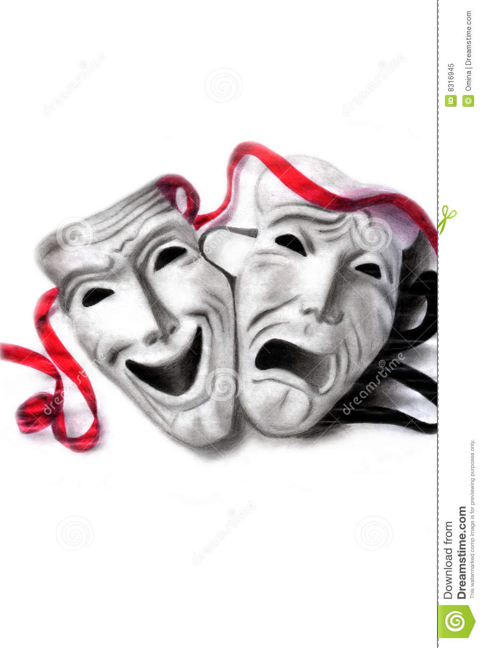 Theatre clipart theatre mask comedy tragedy Masks Vintage Stock tragedy Free