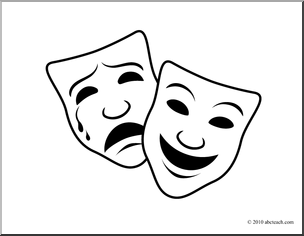 Theatre clipart theatre mask comedy tragedy Of Clipart Collection masks black