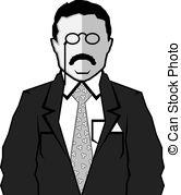 Theodore Roosevelt clipart Cartoon Roosevelt Illustrations  roosevelt