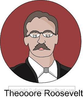 Theodore Roosevelt clipart President roosevelt : Clipart Classroom