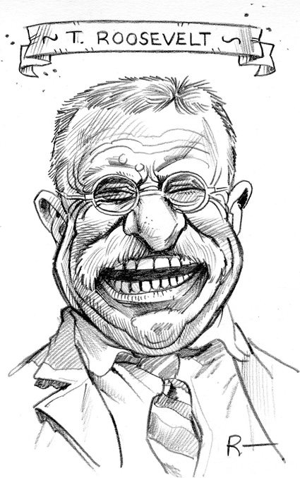 Theodore Roosevelt clipart Theodore Roosevelt Sketch Pencil drawing  Theodore Caricatures