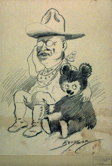 Theodore Roosevelt clipart Theodore Roosevelt Sketch Teddy bear around arm his
