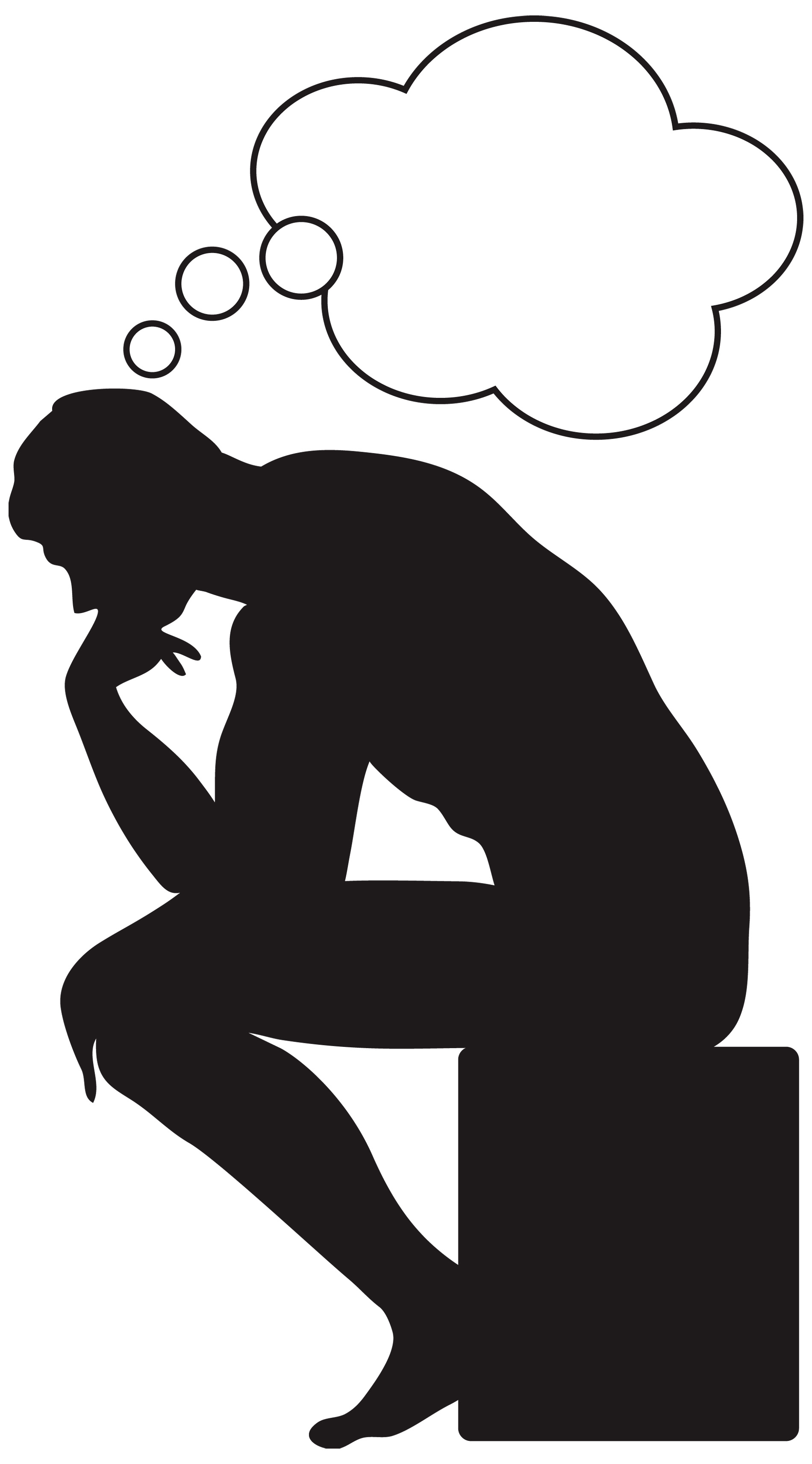 Men clipart thinker Thinking A think Thinking Clipart