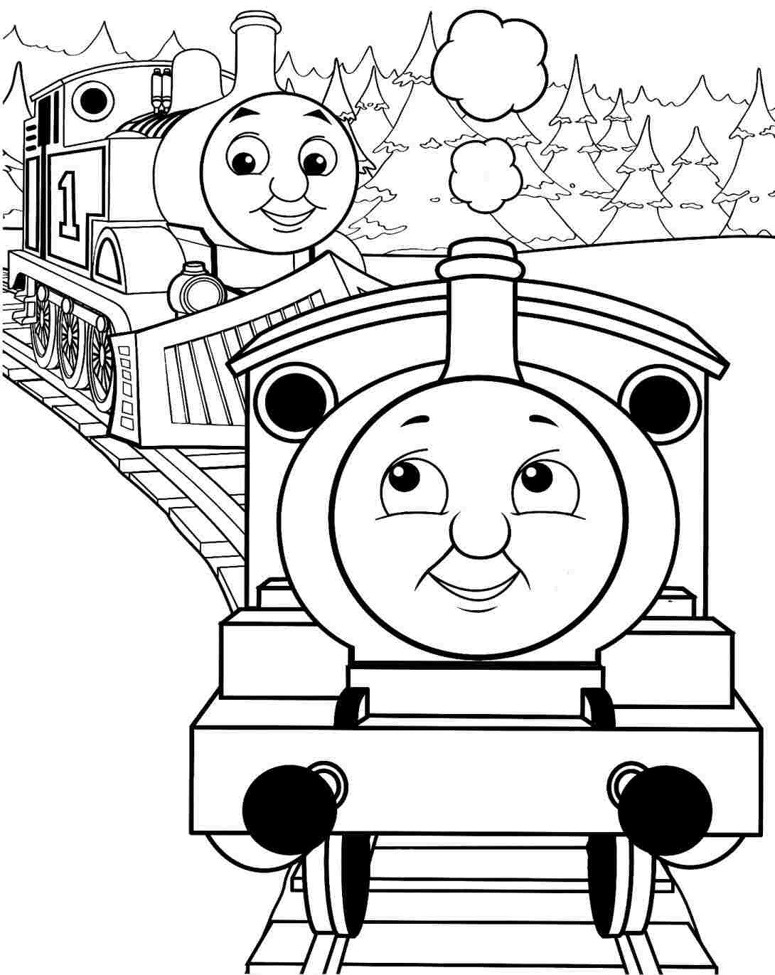 Drawn railroad thomas the tank engine  Pages train Coloring coloring