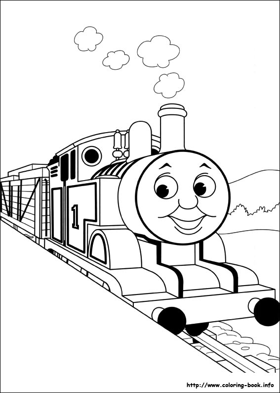 Drawn railroad thomas the tank engine Pages Coloring info Thomas
