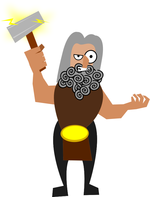 Lightening clipart funny Thor  Funny Free Art